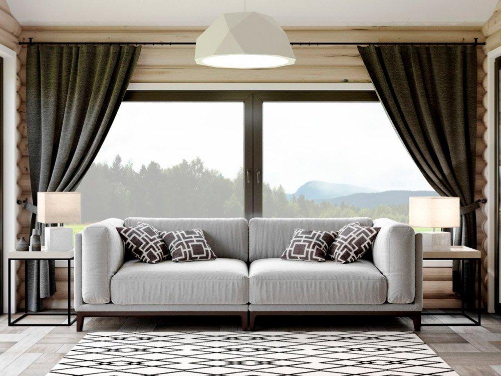 Диван для комнаты отдыха дизайне