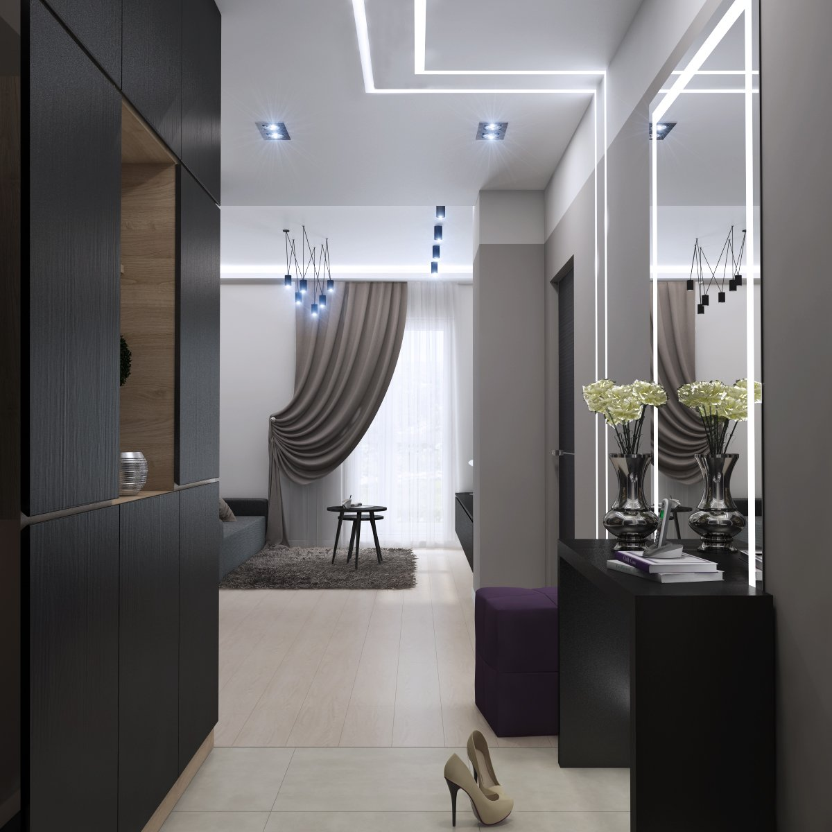 Подсветка в коридоре квартиры