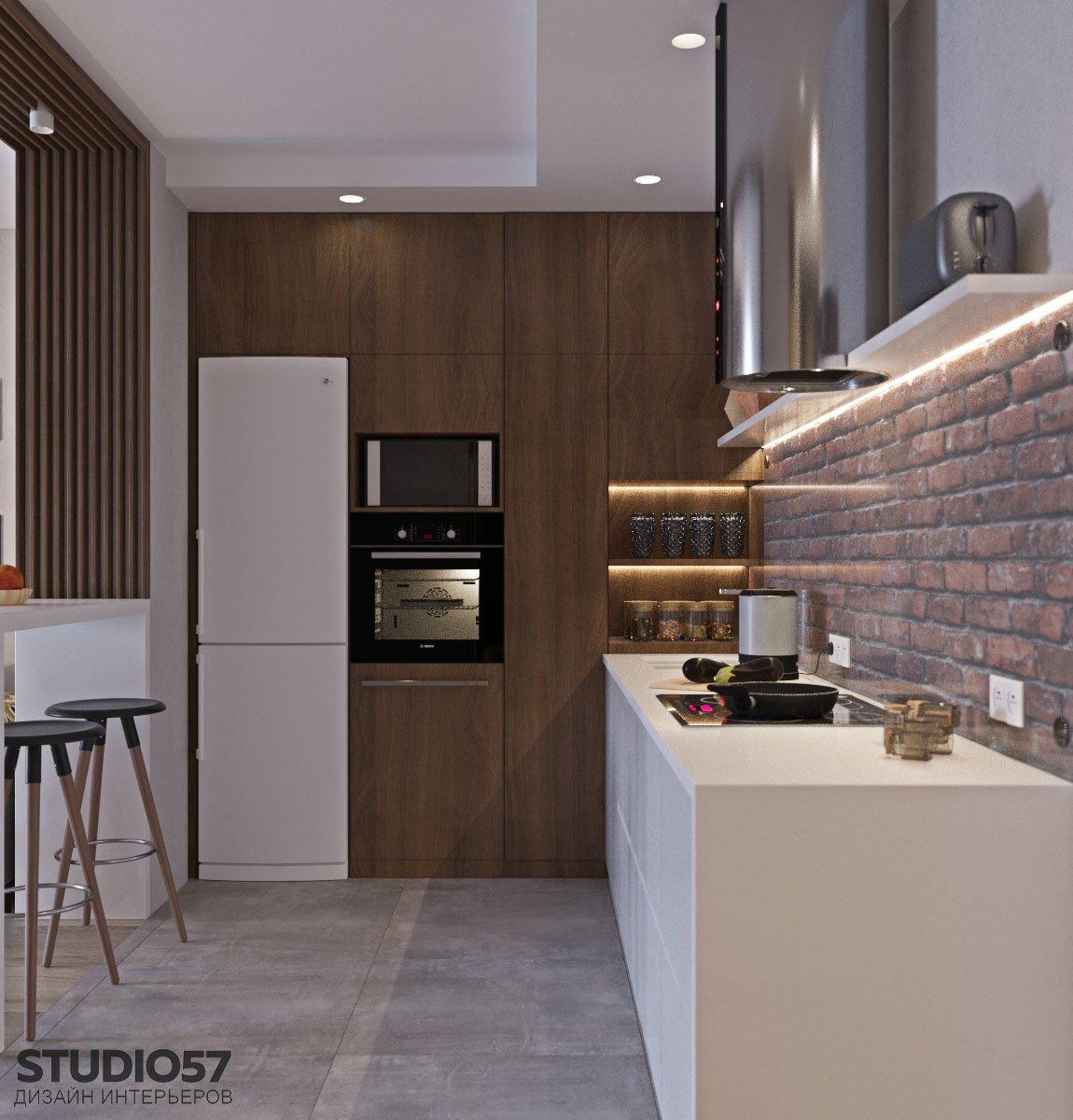 Встроенная техника в шкаф кухни