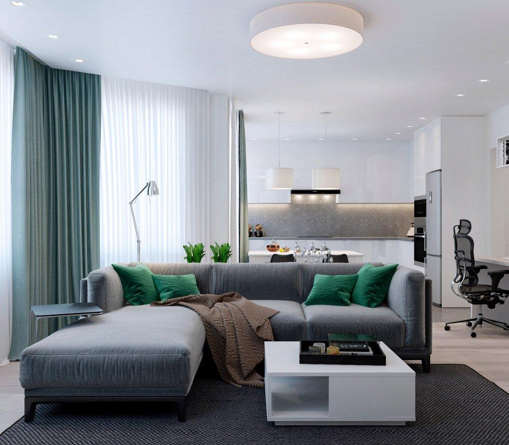 Совмещение комнат в дизайн проекте