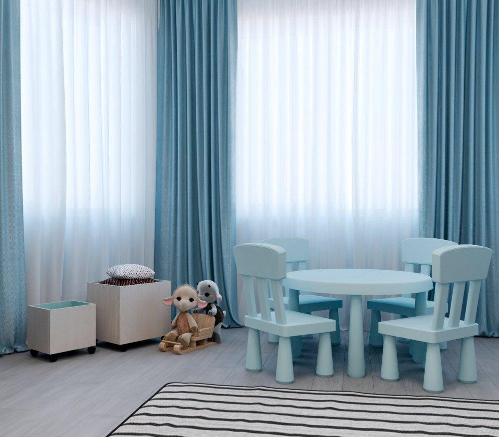 Голубые цвета в детской