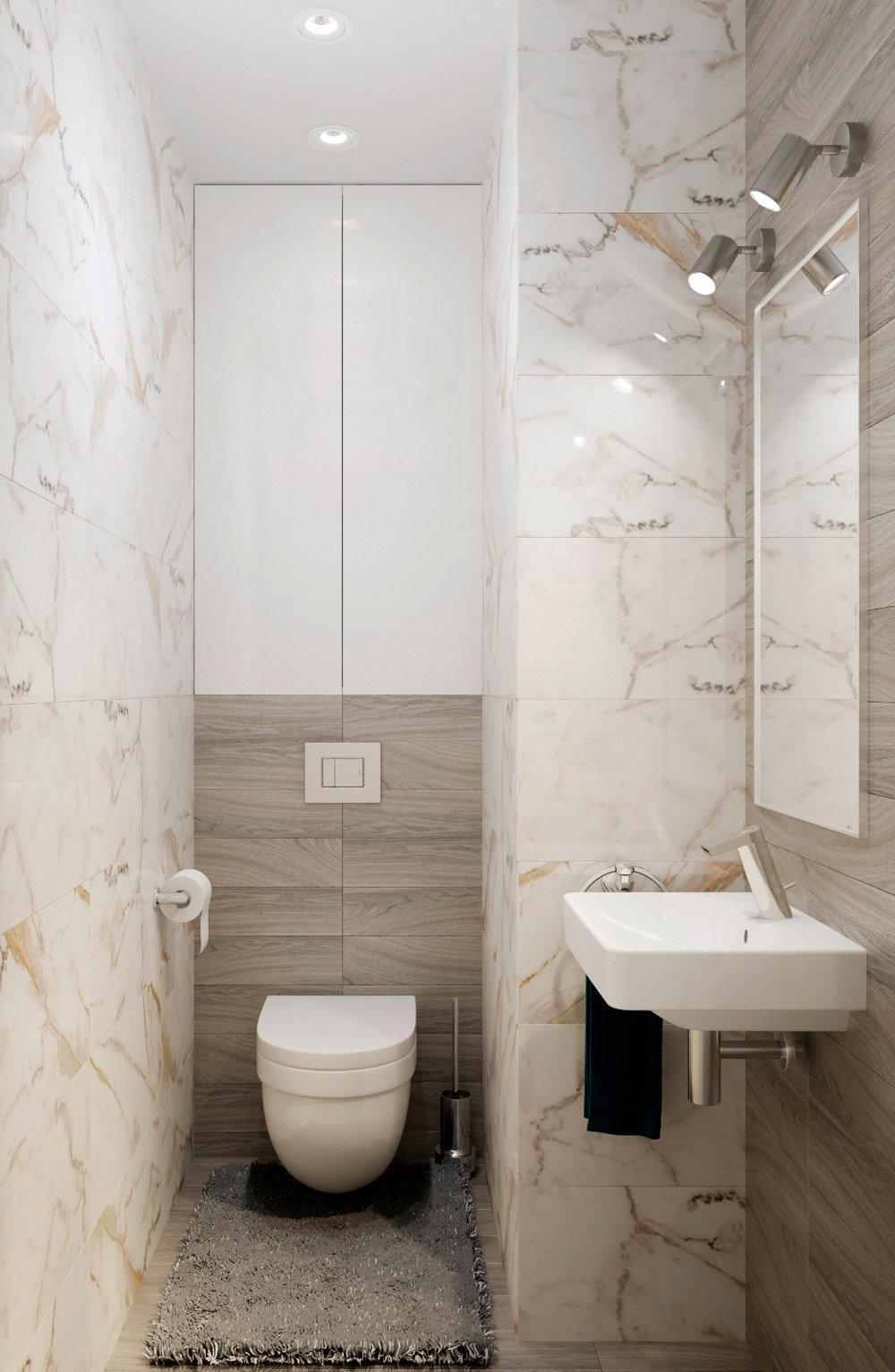 Мраморная плитка в туалет