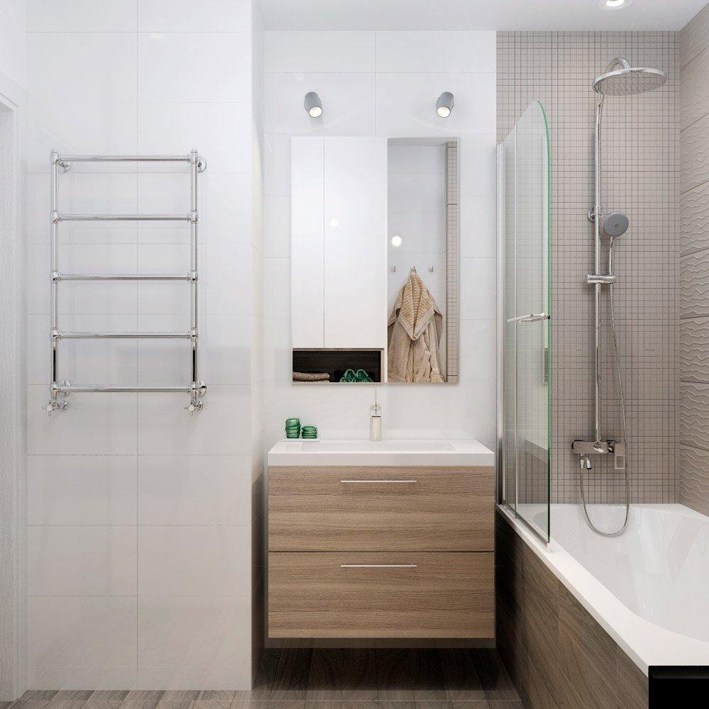 Дизайн раковины со шкафом в ванной