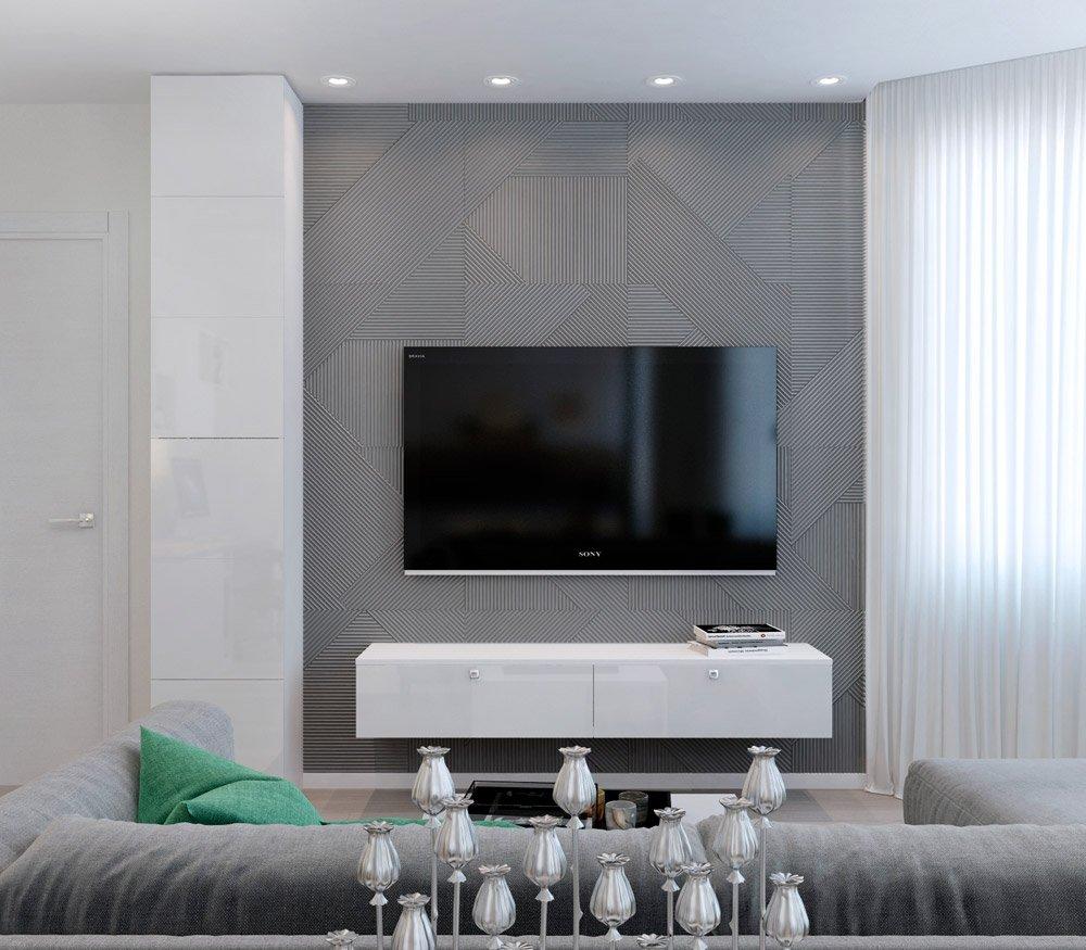 Дизайн многоугольной гостиной