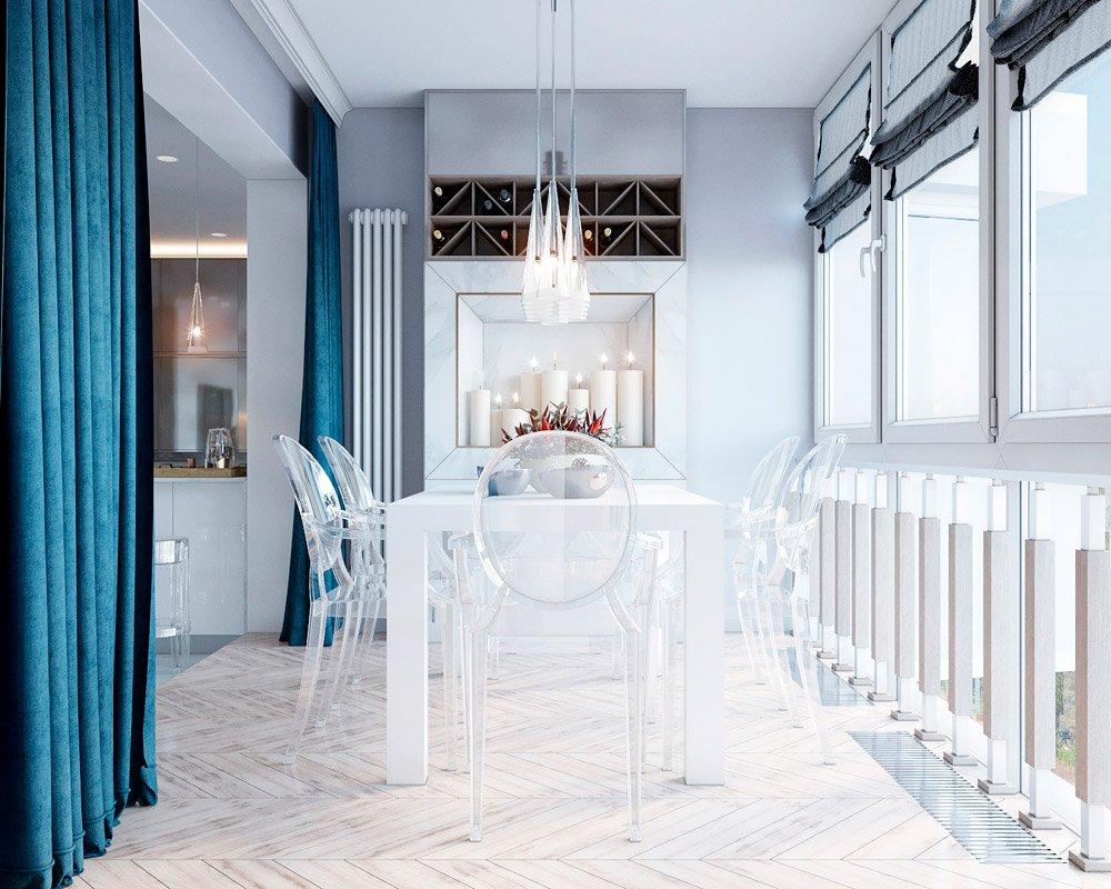Красивый декор столовой зоны в кухне