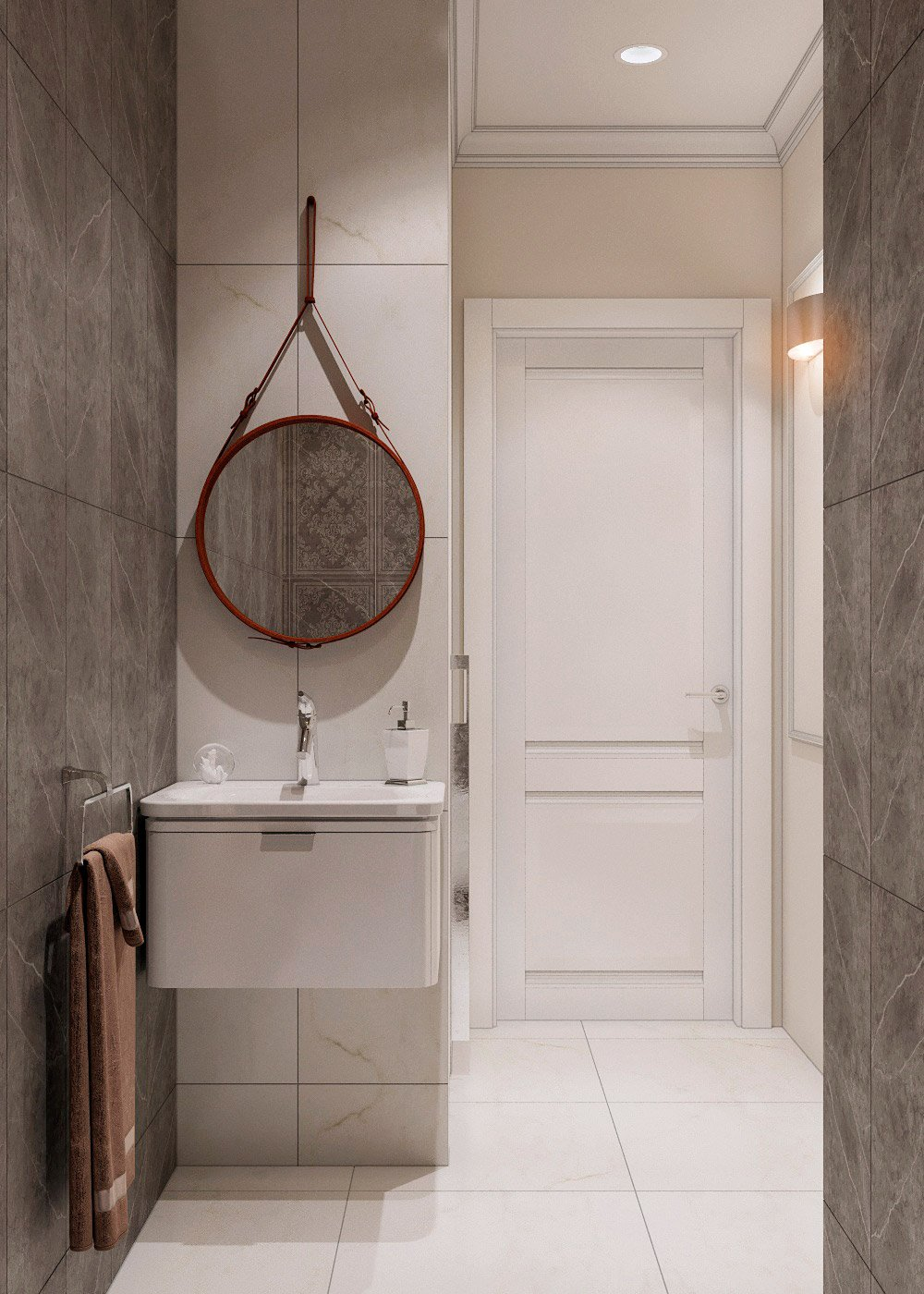 Дизайн туалета с большой площадью