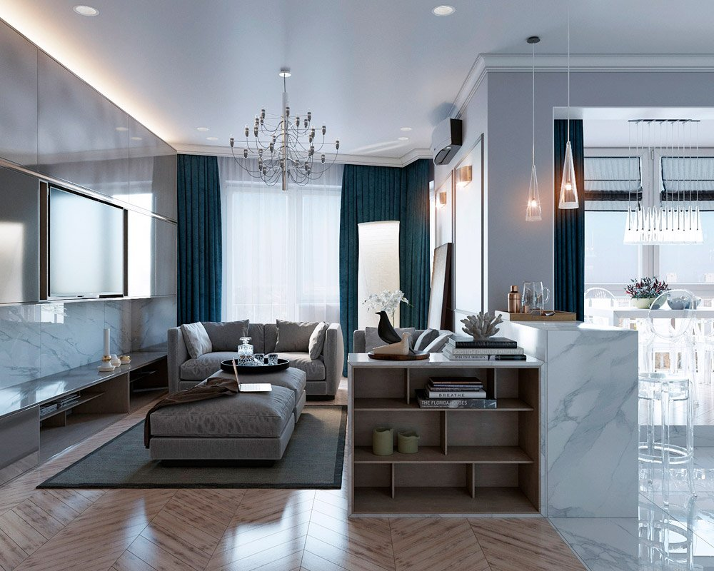 Фото дизайна четырёхкомнатной квартиры