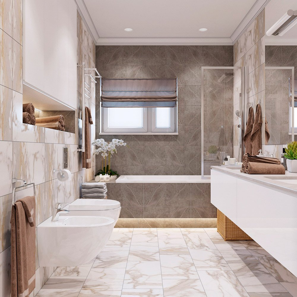 Дизайн ванной комнаты 7 м кв