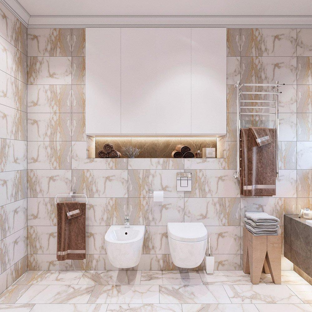 Туалет и бидэ в туалете