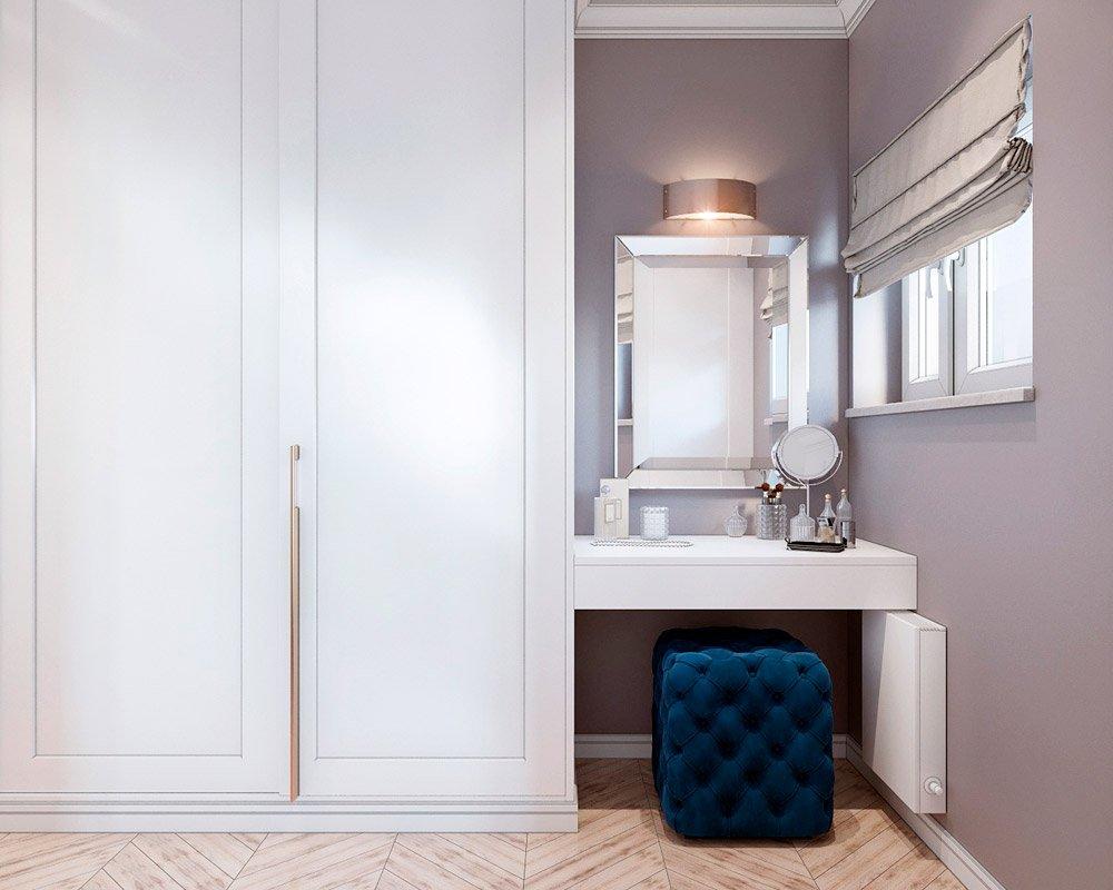 Туалетный столик в белом цвете