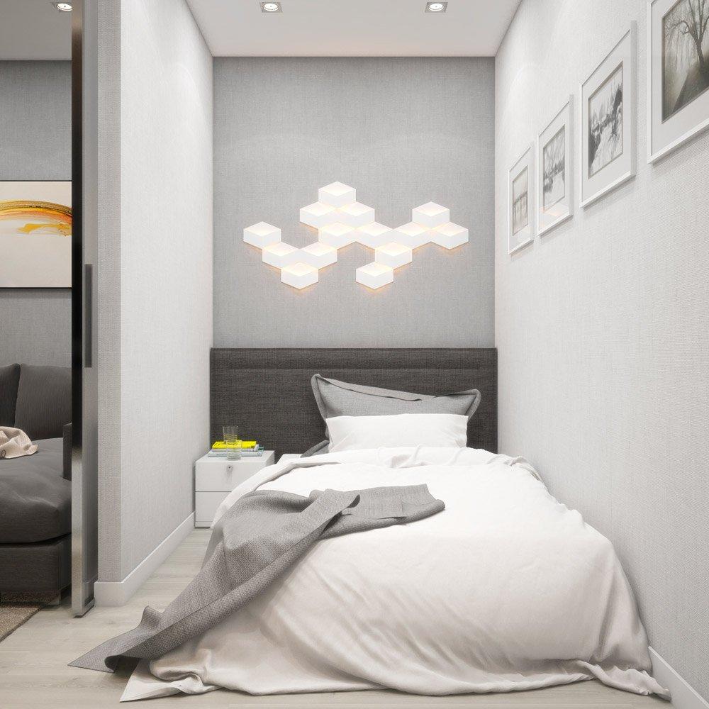 Пример декора стен в спальне