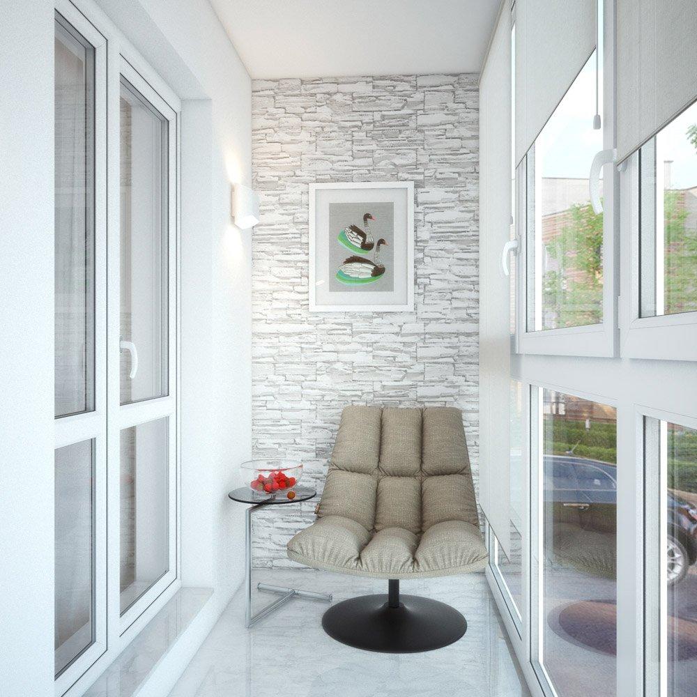 Окна в пол на балконе