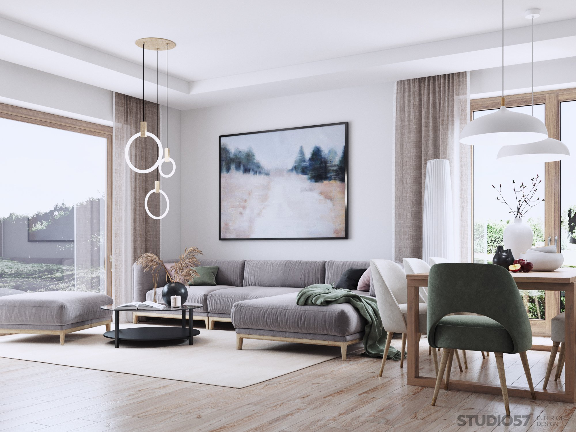 Scandinavian living room interior design image