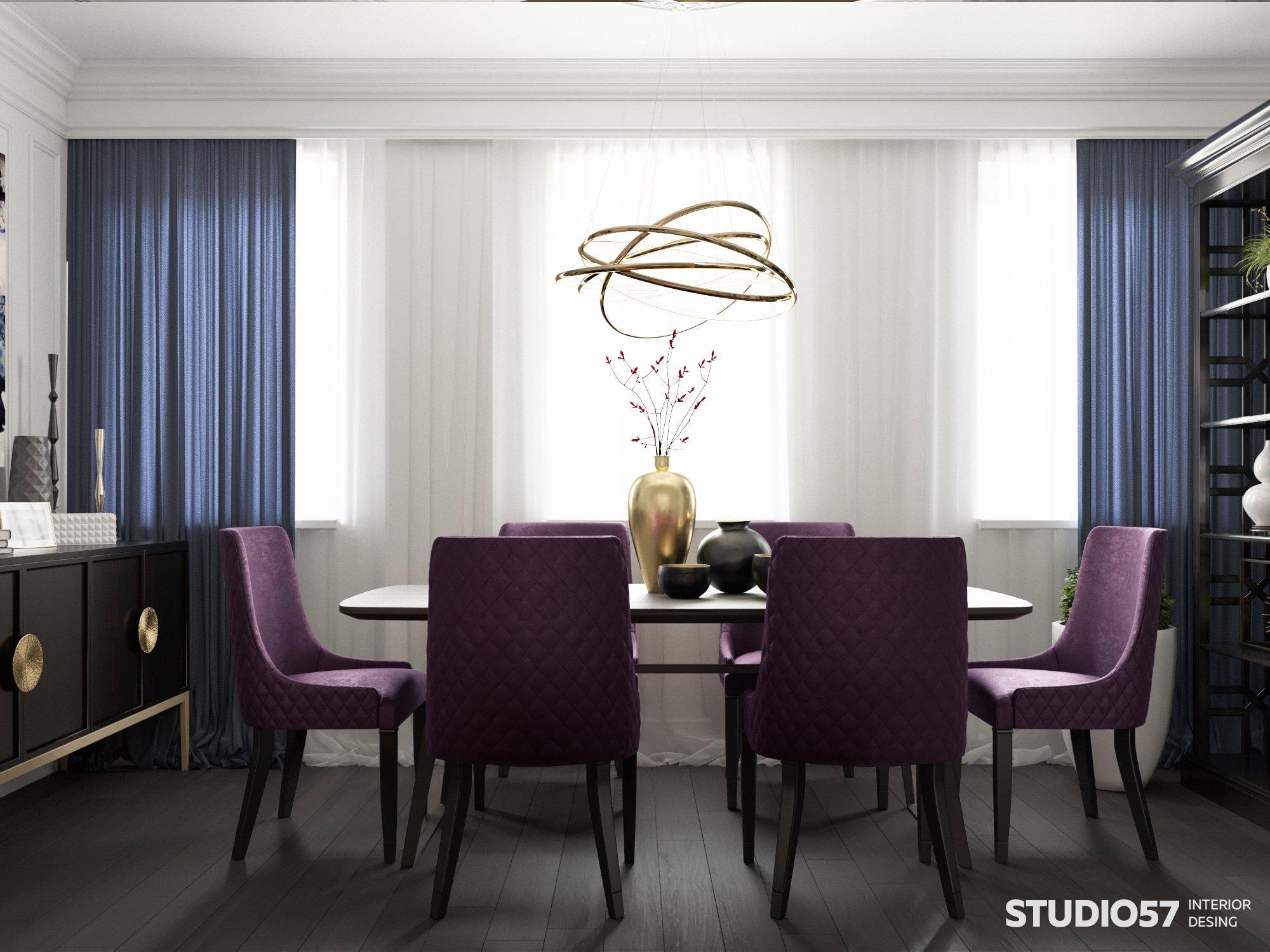 Визуализация столовой зоны в стиле модерн