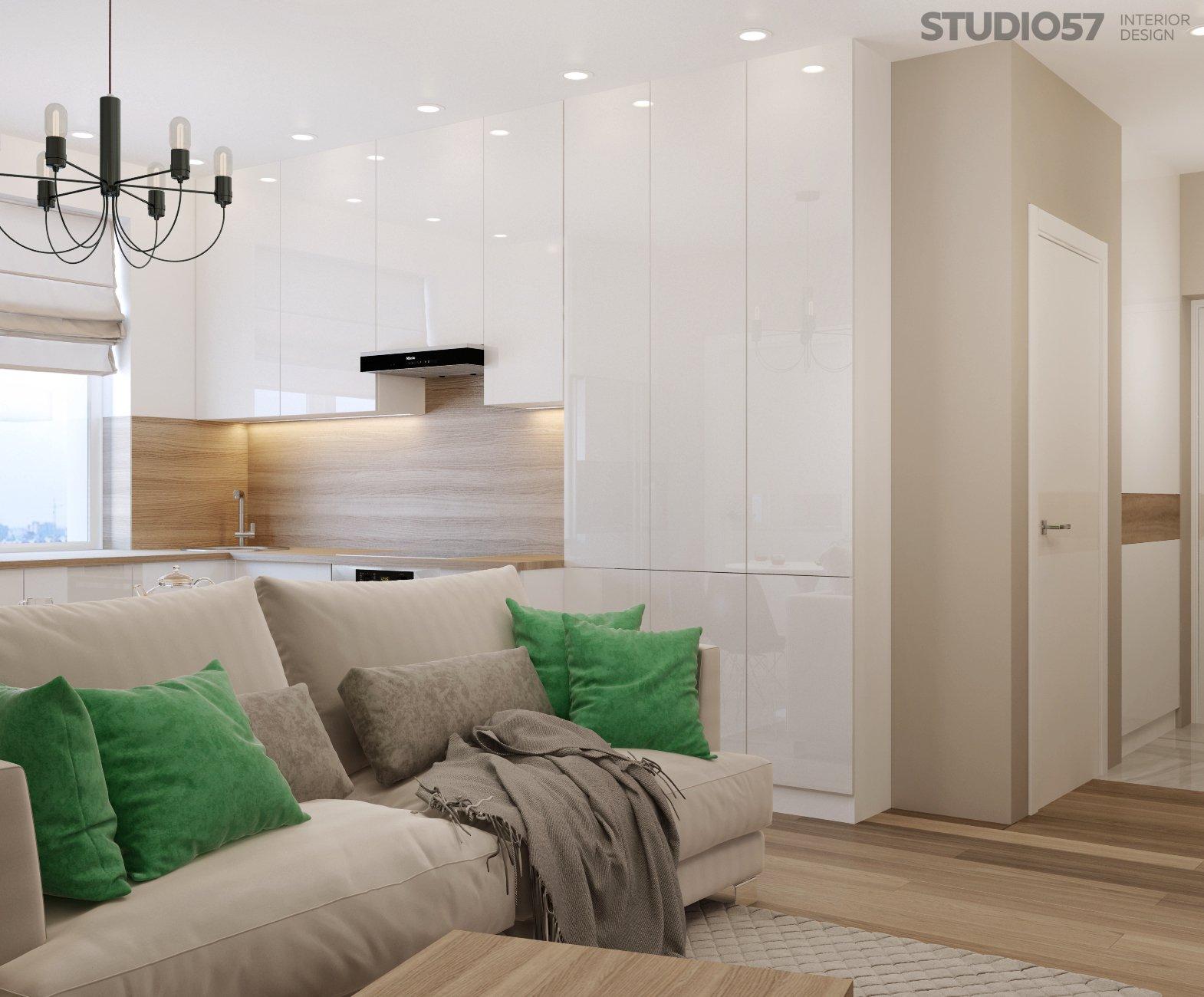 Дизайн интерьера квартиры студии в современном стиле фото
