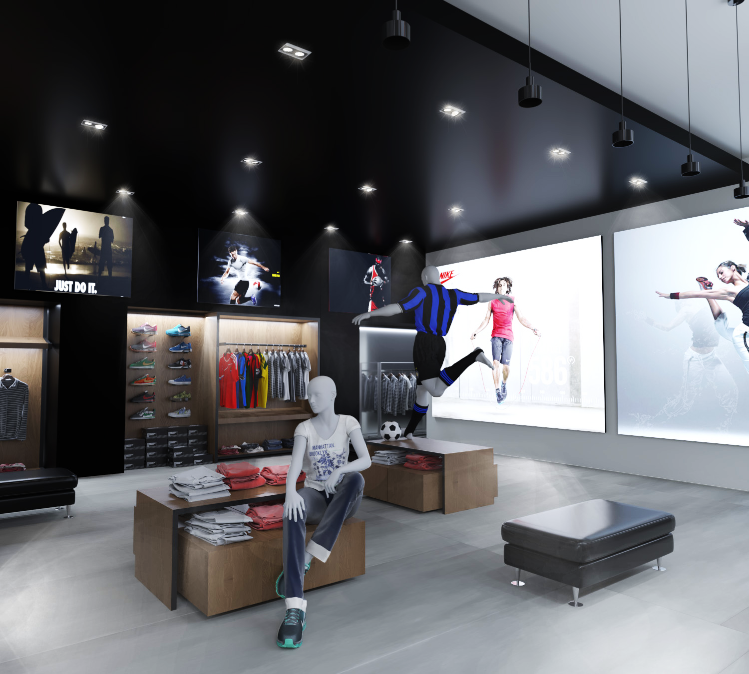 Design of a sporting goods store