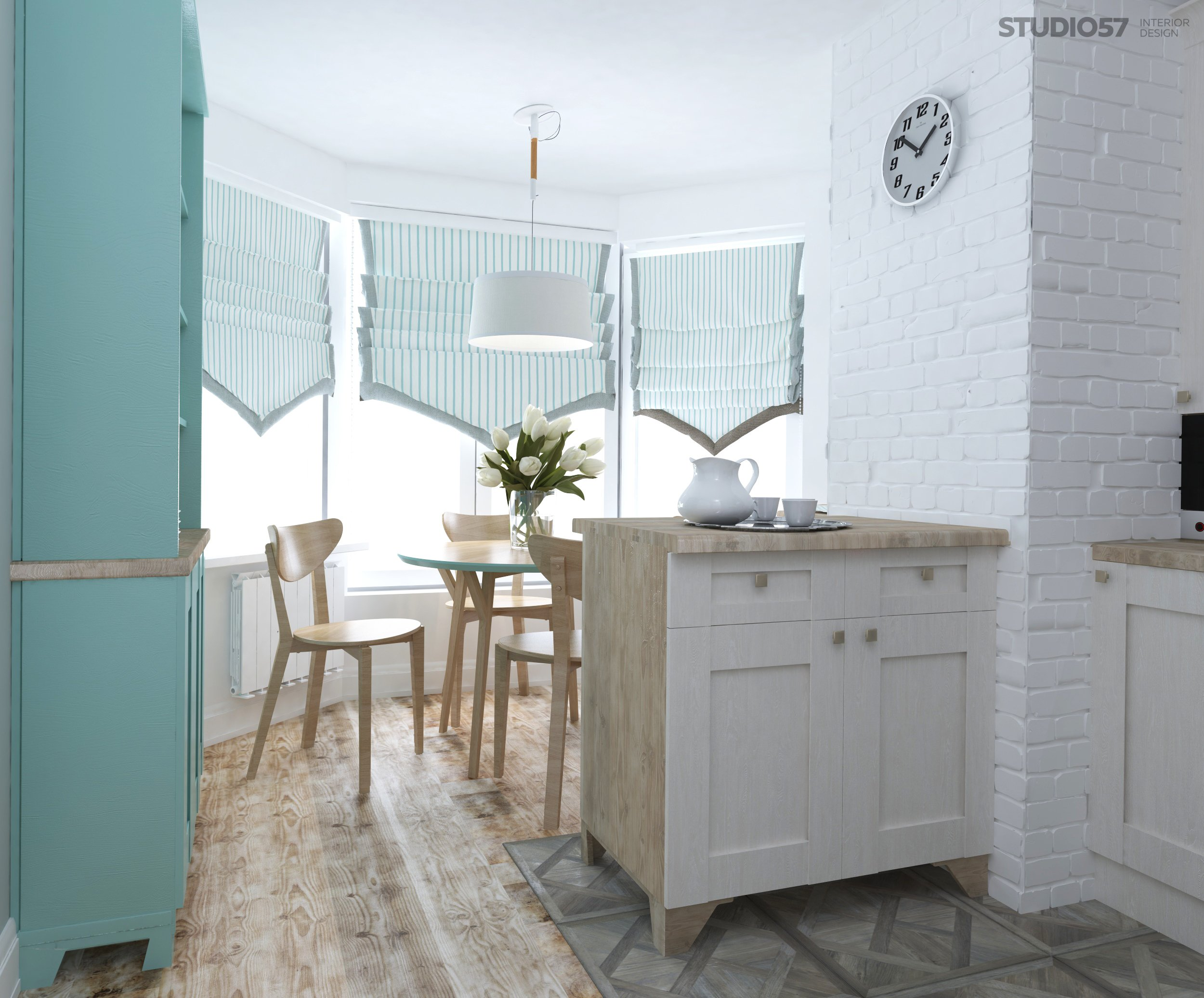 Kitchen interior in Scandinavian style photo