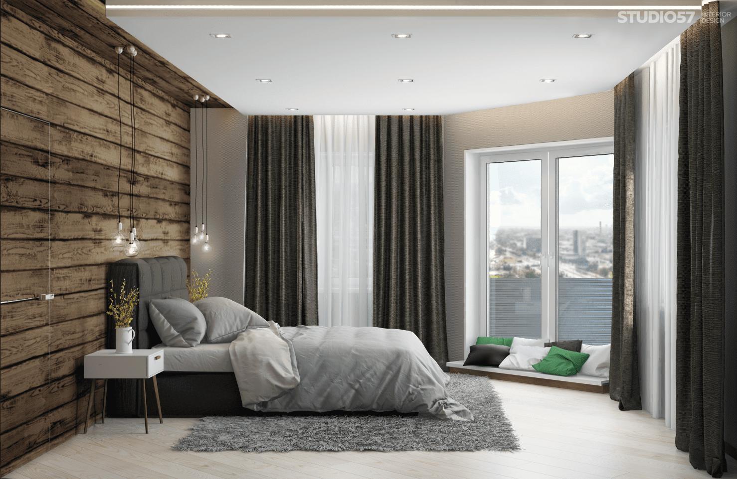 Интерьер спальни в стиле эко