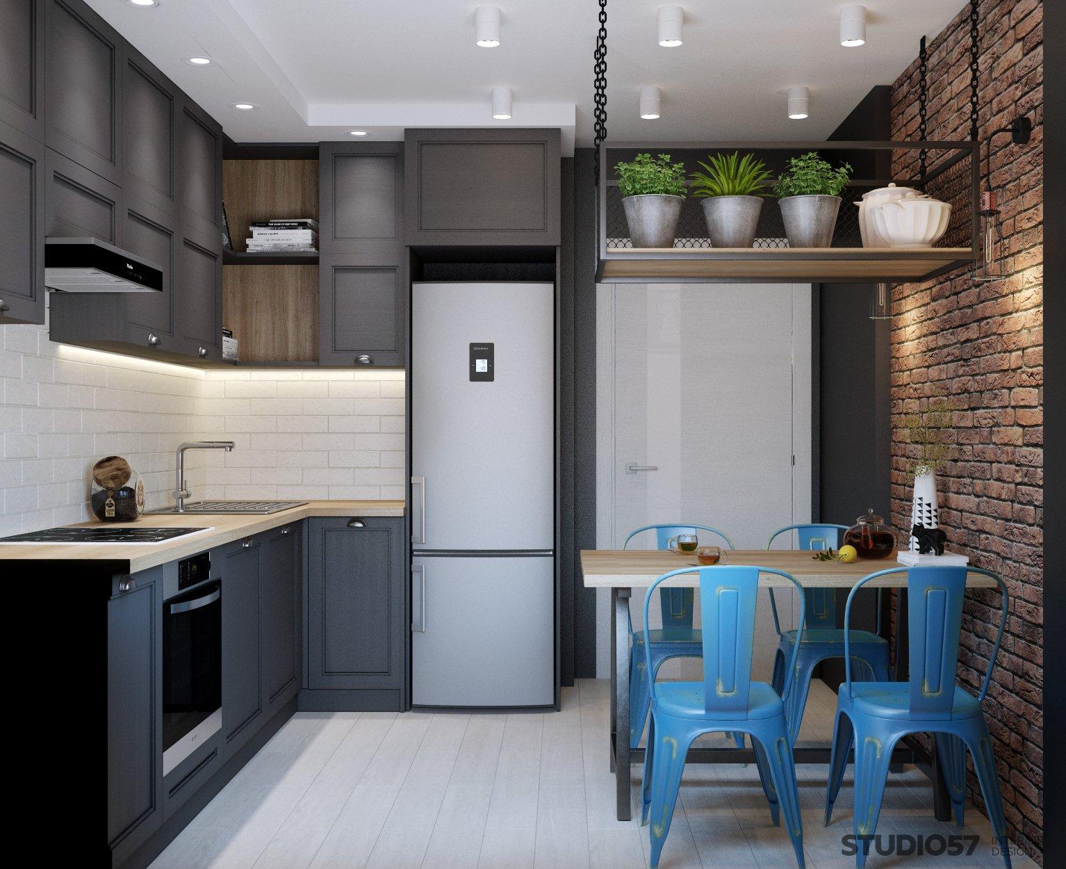 Kitchen in loft style