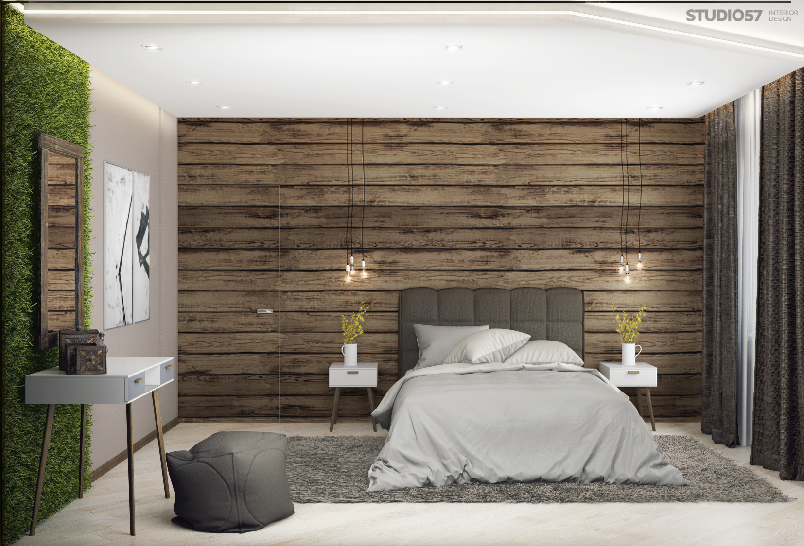 Bedroom in the style of Eco