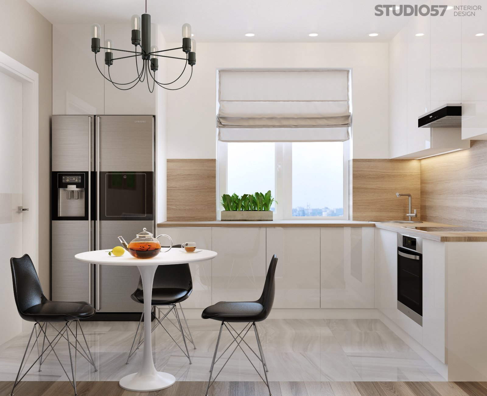 Studio in modern style