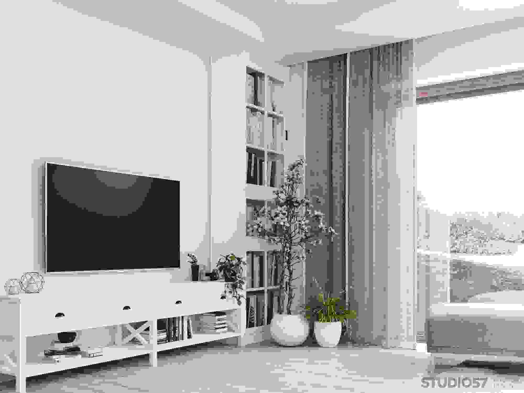 Design of the living room in light colors photo