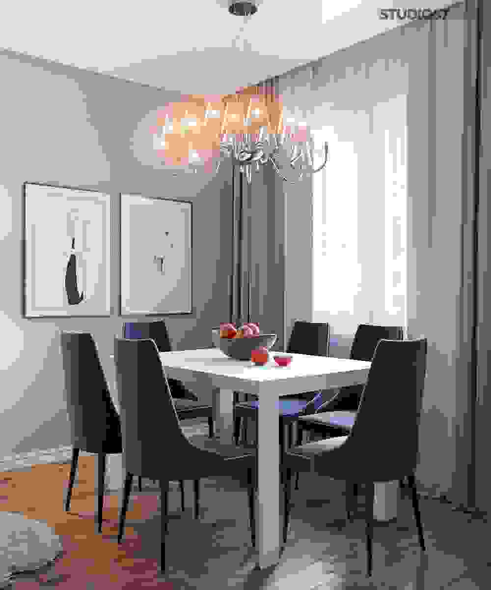 Design of the dining area in the Art Nouveau style