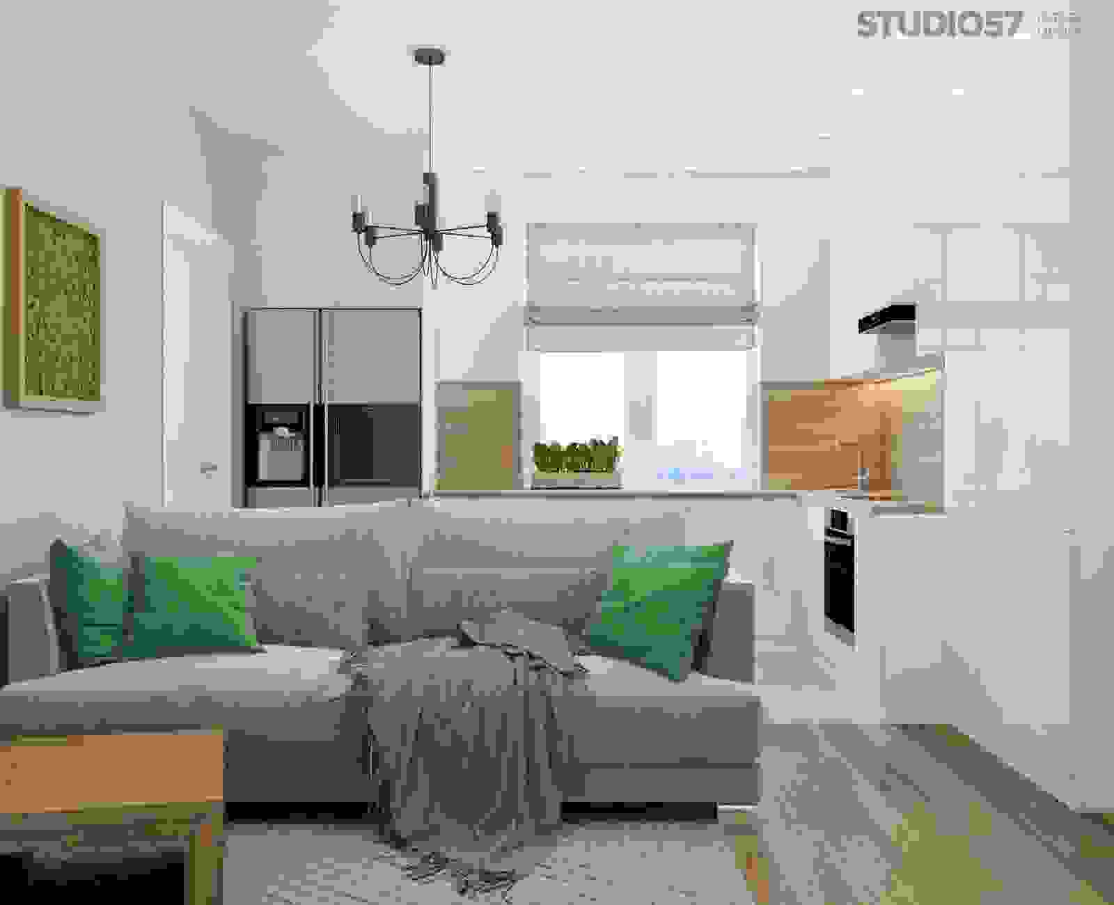Studio apartment in a modern style photo
