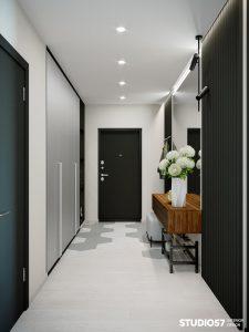 Чёрно-белый коридор