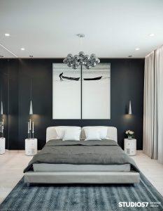 Визуализация спальни в стиле минимализм