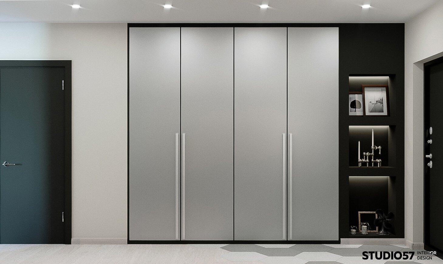 Оформление коридора в стиле минимализм