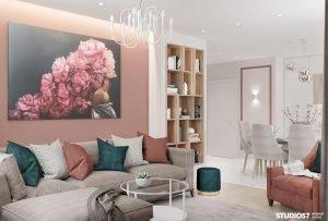 Дизайн проект квартиры модерн