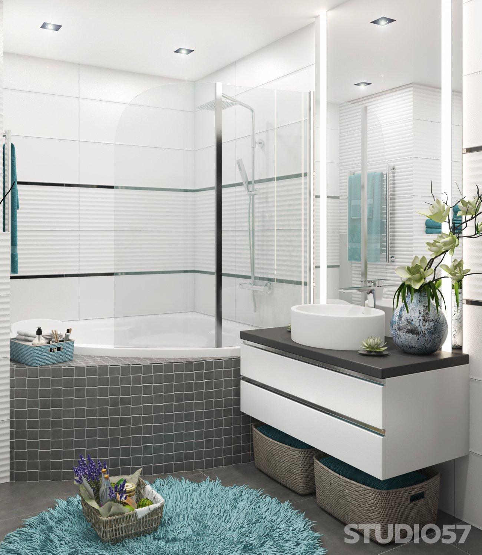 Интерьер ванной в стиле хай-тек изображение