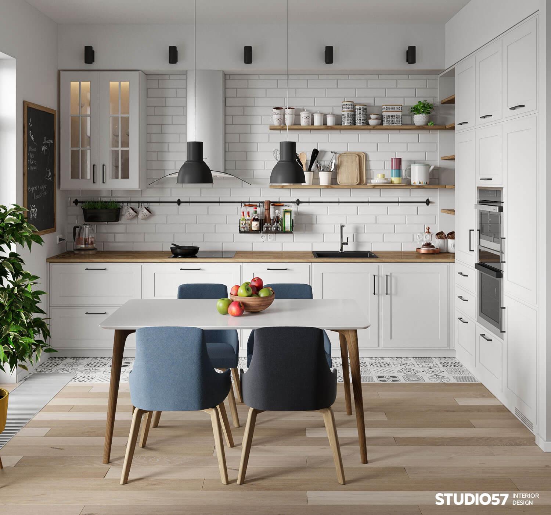 Кухня с элементами эко-стиля
