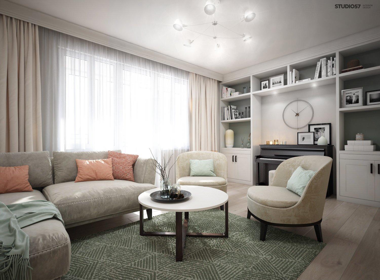 Bright living room photo