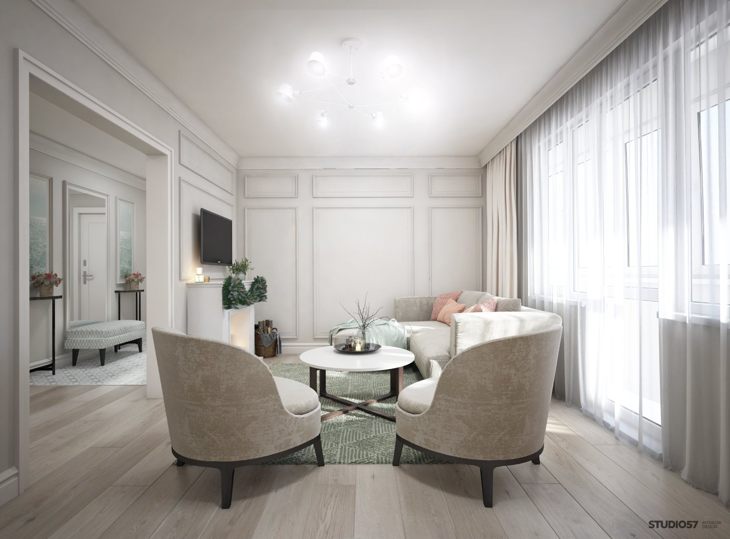 Photo of the modern living room