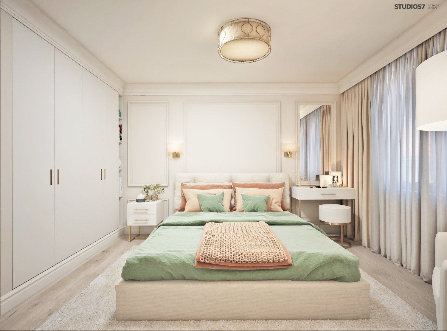 Bedroom in light colors picture