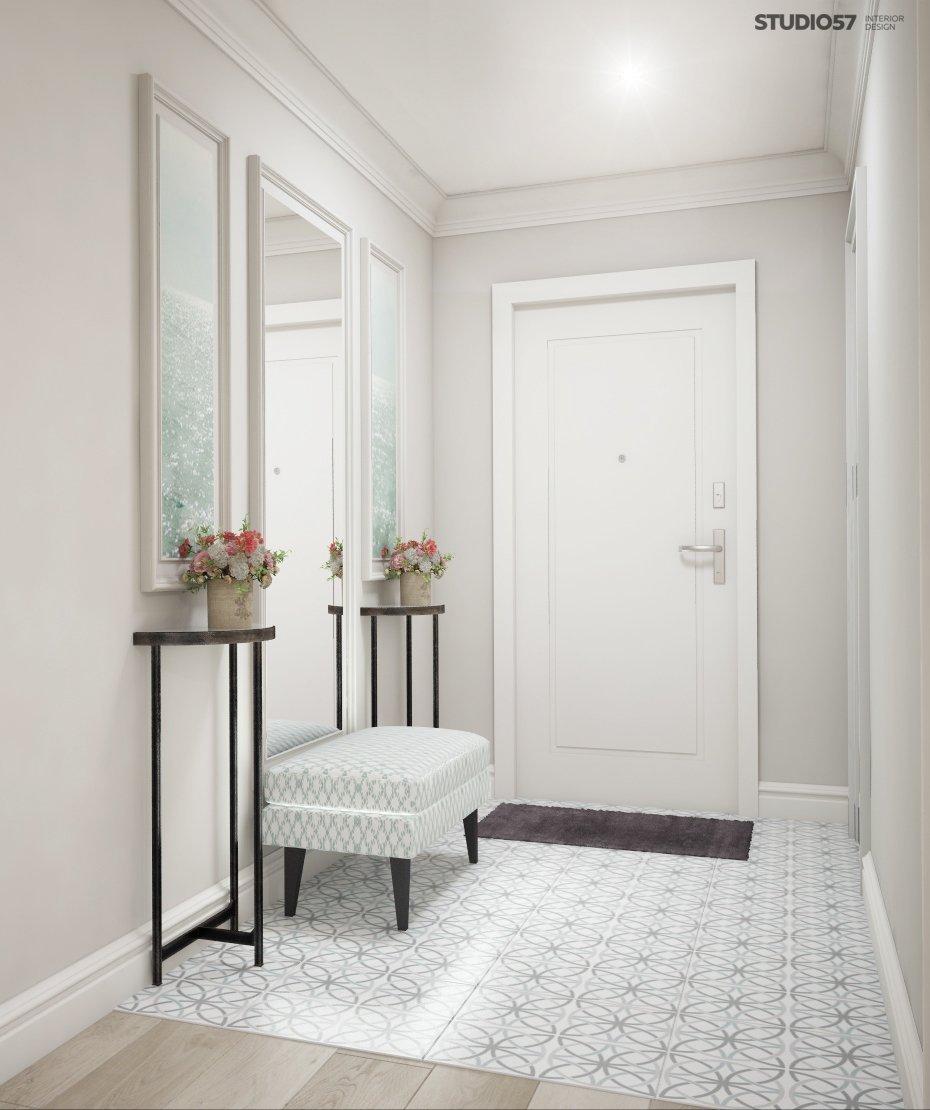Hallway in light colors