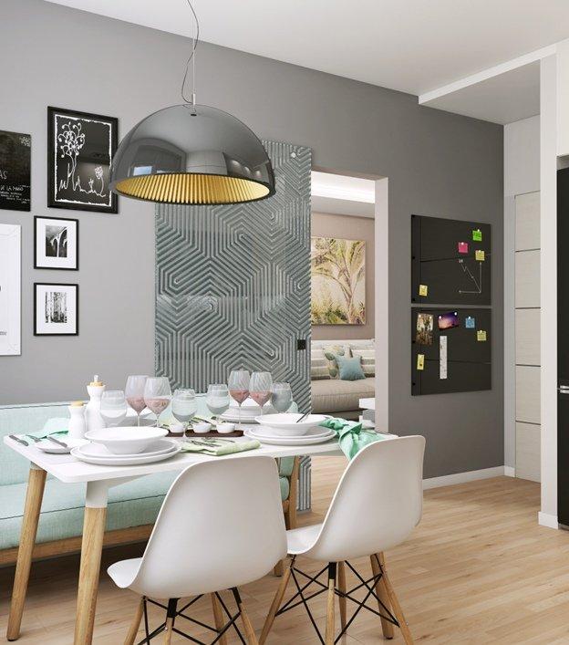 Фото перегородки между кухней и гостиной