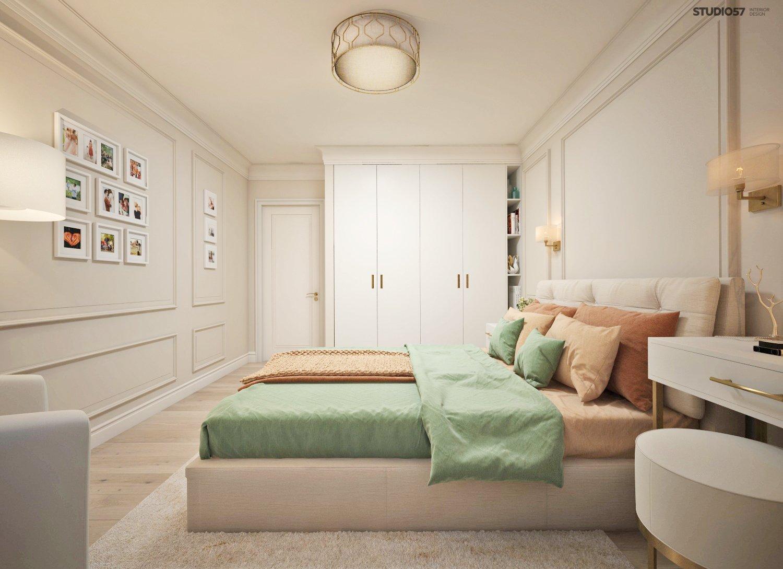Interior of a classic bedroom photo