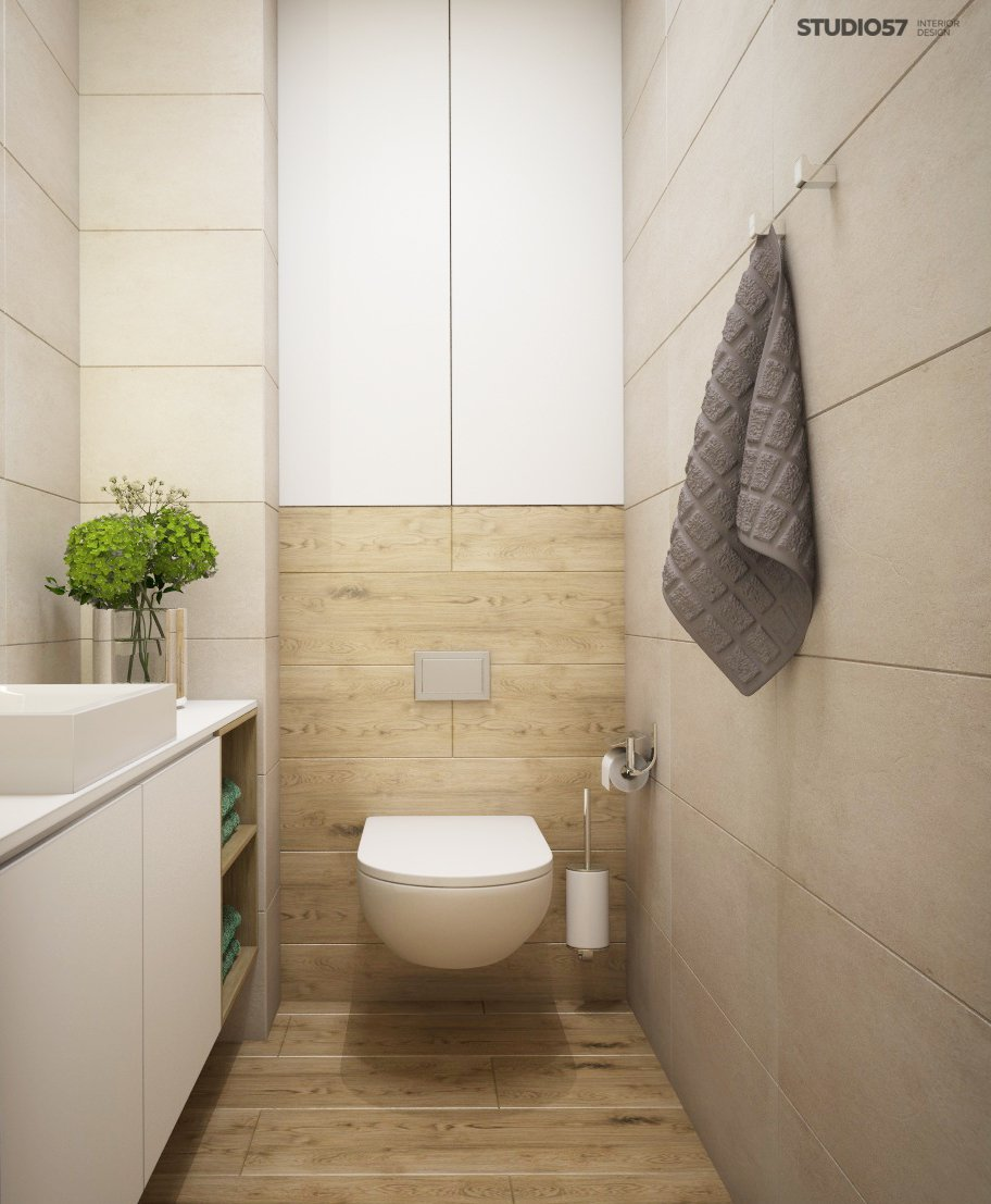 Toilet in a modern classic style picture