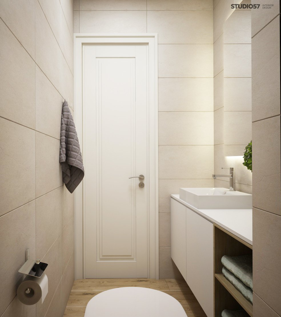 Interior of a modern toilet image