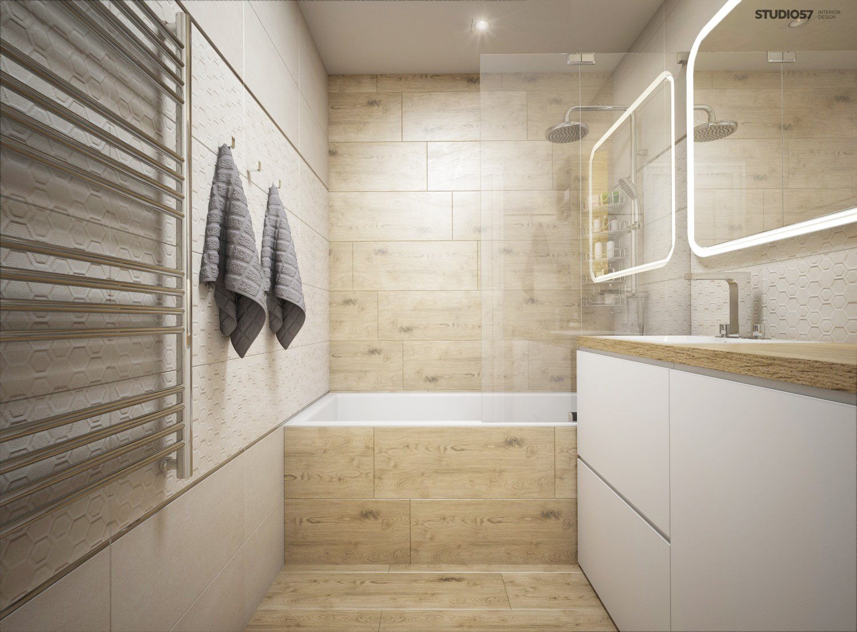 Photo of a modern bathroom