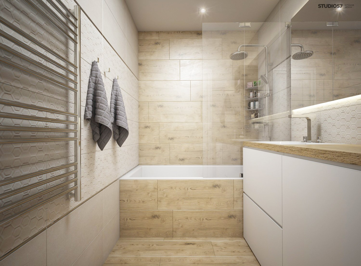 Bathroom in a modern classic style image