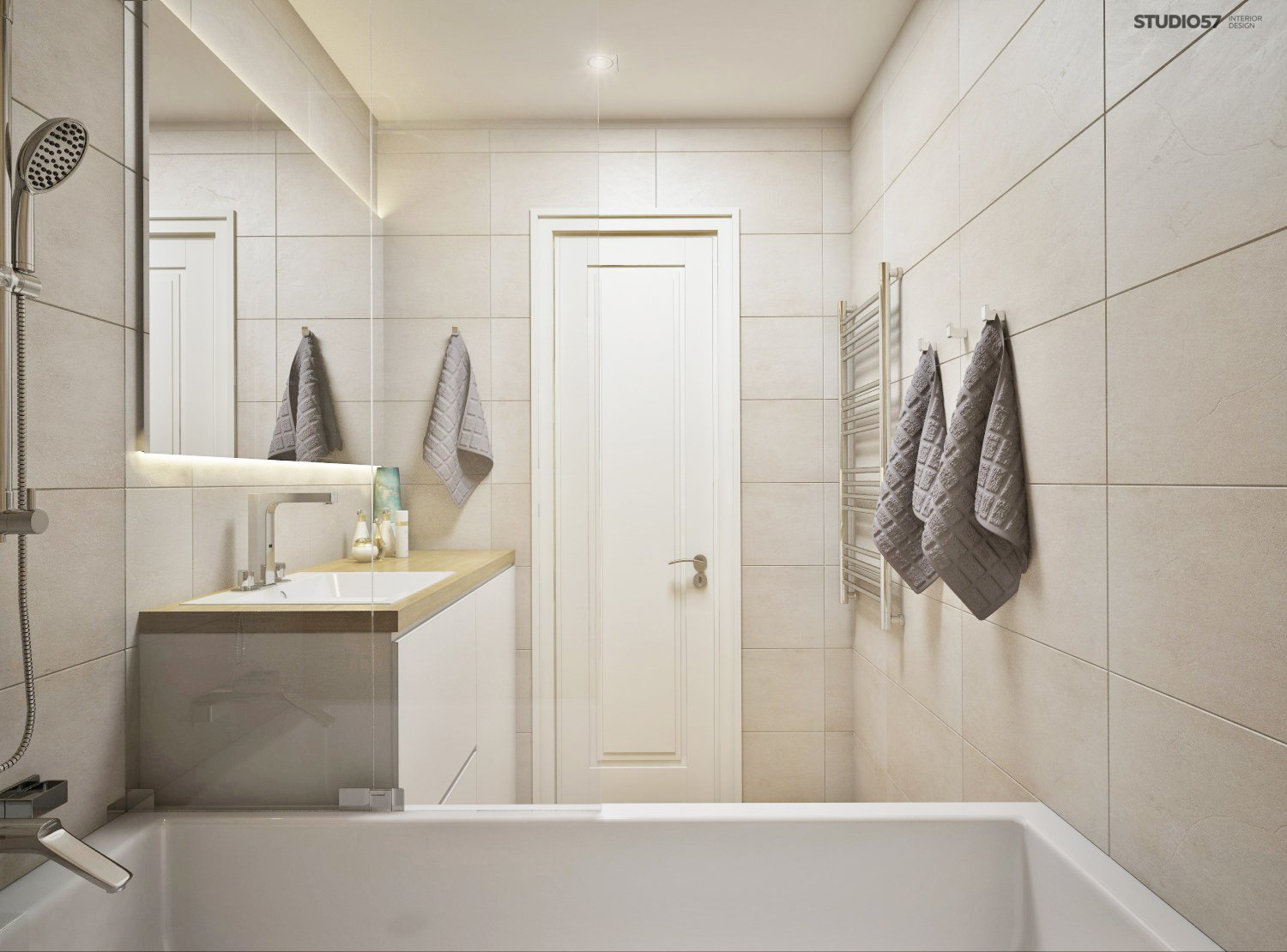 Bathroom in a modern style image