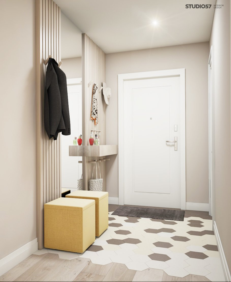 Anteroom in the style of modern classic photo