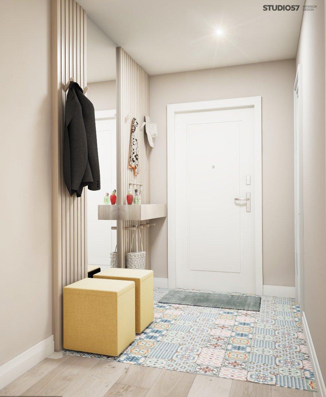 Interior of the modern hallway photo