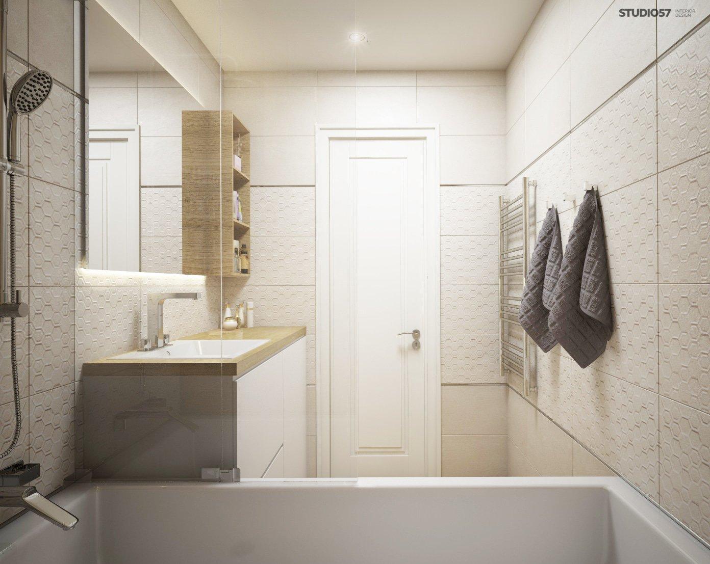 Bathroom in gray color photo