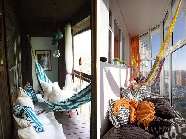 Гамак на балконе фото