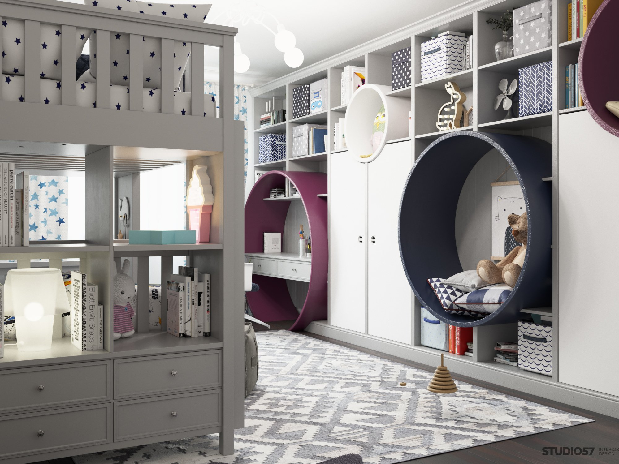 Children's room in modern style image